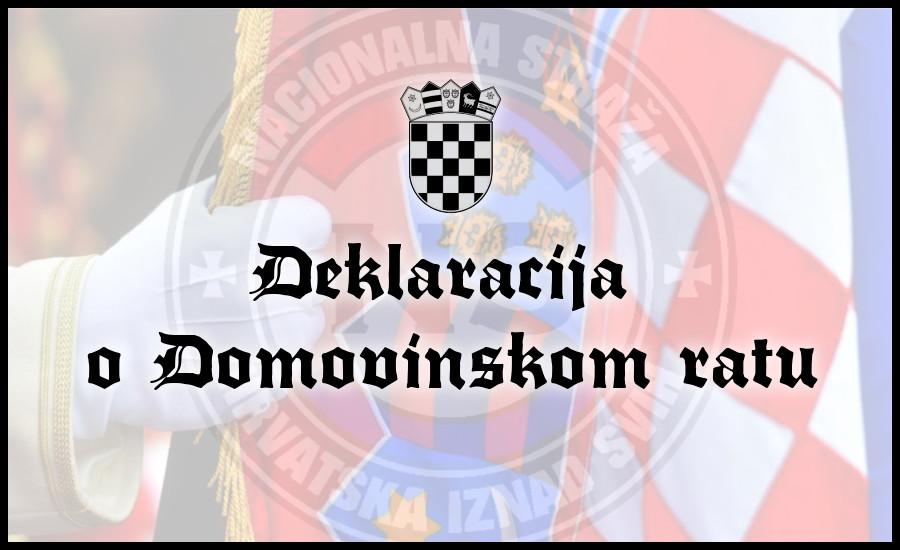 Deklaracija o Domovinskom ratu - Nacionalna straža